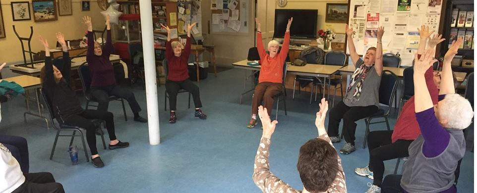 Teaching Shintaido to Seniors