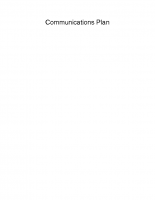 Communcations Plan