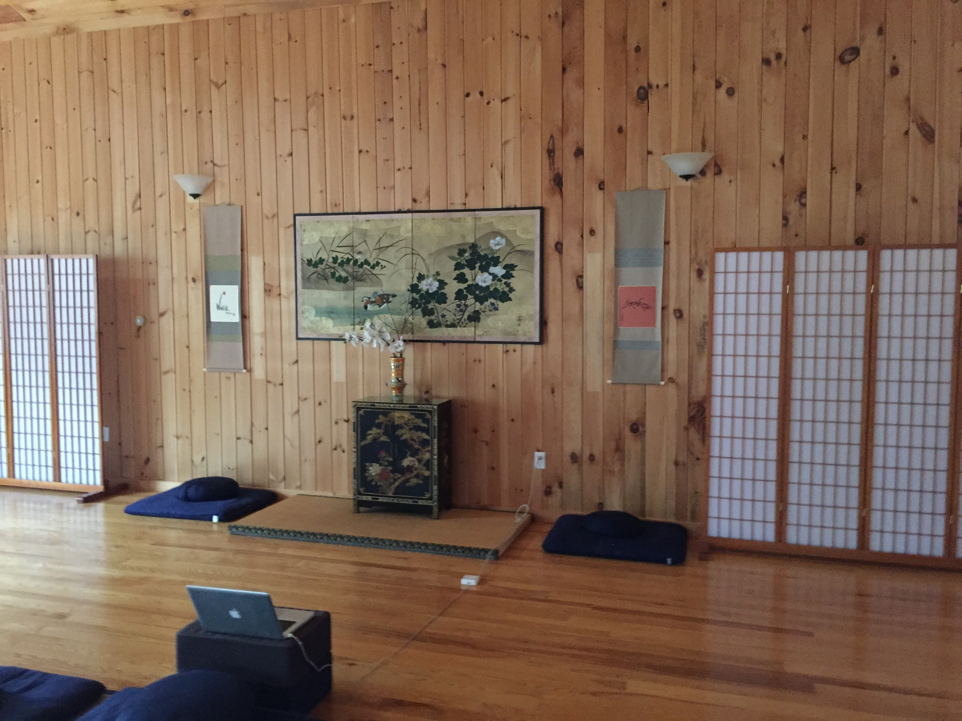 Buddhist paintings and scrolls