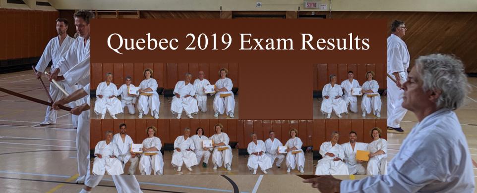 Quebec 2019 Exam Results
