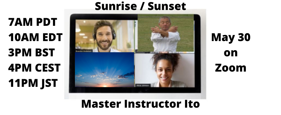 Cours du mois de Mai avec Maître Instructeur H. F. Ito